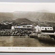 Postales: POSTAL FOTOGRÁFICA ANTIGUA CANARIAS. TENERIFE. PUERTO DE LA CRUZ. EL TEIDE. ED. ARRIBAS. ESCRITA. . Lote 147067638