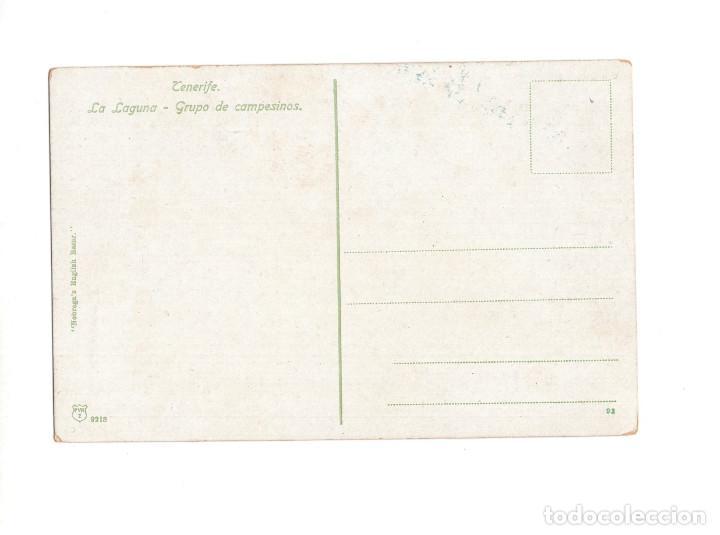 Postales: TENERIFE.(CANARIAS).- LA LAGUNA. GRUPO DE CAMPESINOS - Foto 2 - 147312518