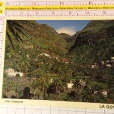 Postales: POSTAL DE LA ISLA DE LA GOMERA. AÑO 1988. RINCÍN DE GUADÁ VALLE GRAN REY. 1339. Lote 148094350