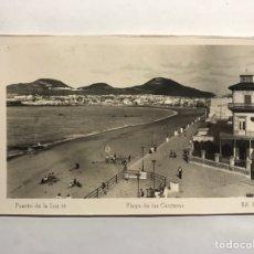 Postales: PUERTO DE LA LUZ (LAS PALMAS) POSTAL NO.16, PLAYA DE LAS CANTERAS. EDITA: ED. ARRIBAS (H.1950?). Lote 148235236