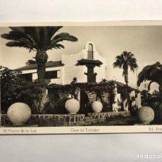 Postales: PUERTO DE LA LUZ (LAS PALMAS) POSTAL NO. 39, CASA DE TURISMO . EDITA: ED. ARRIBAS (H.1950?). Lote 148236434