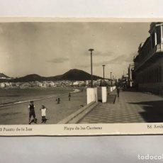 Postales: PUERTO DE LA LUZ (LAS PALMAS) POSTAL NO. 23, PLAYA DE LAS CANTERAS . EDITA: ED. ARRIBAS (H.1950?). Lote 148237126