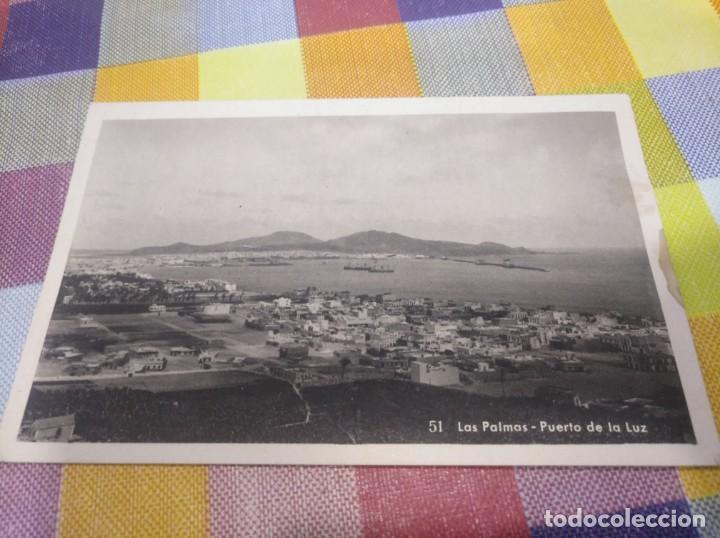 POSTAL ANTIGUA PUERTO DE LA LUZ LAS PALMAS DE GRAN CANARIA (Postales - España - Canarias Antigua (hasta 1939))