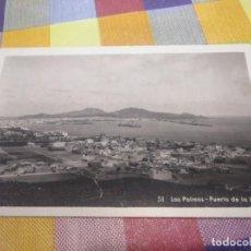 Postales: POSTAL ANTIGUA PUERTO DE LA LUZ LAS PALMAS DE GRAN CANARIA. Lote 148964598