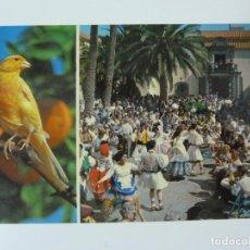 Postales: LAS PALMAS DE GRAN CANARIA. BAILES TÍPICOS EN EL PUEBLO CANARIO. Lote 149146278
