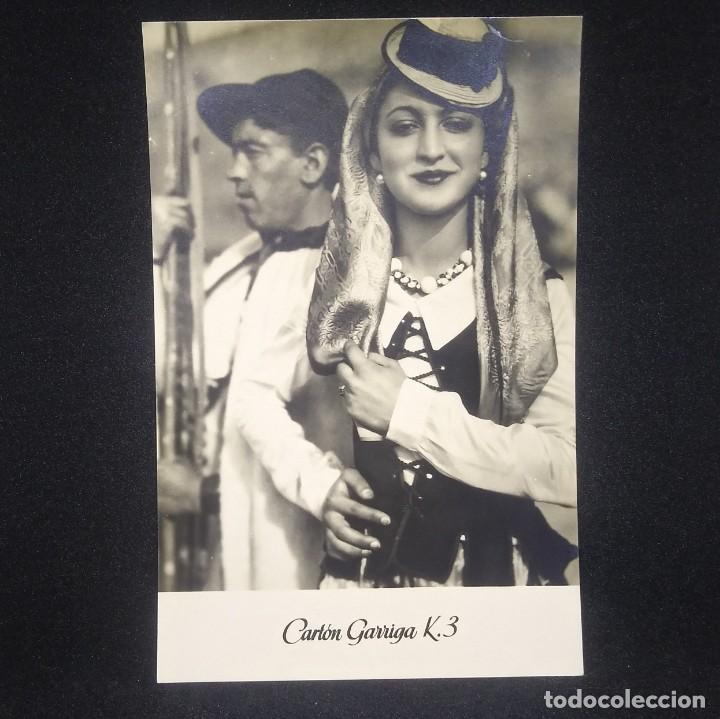 Tipos de Tenerife. Canarias. Publicidad Cartón Garriga 14,5 x 9,5 cm - 147693914