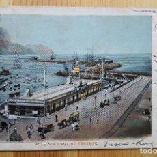 Postales: MUELLE SANTA CRUZ DE TENERIFE 1903 UNION POSTA UNIVERSAL. Lote 150883114