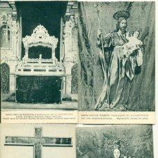 Postales: SANTA CRUZ TENERIFE. PARROQUIA DE LA CONCEPCIÓN LOTE DE 4 POSTALES. HACIA 1920. HAUSER Y MENET.. Lote 151434262