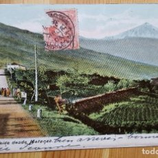 Postales: PICO DE TEIDE DESDE MATANZA 1906 UNION POSTAL UNIVERSAL. Lote 151614774