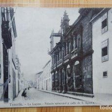 Postales: TENERIFE LA LAGUNA PALACIO EPISCOPAL Y CALLE DE S. AGUSTIN 1908 ED. NOBREGA´S ENGLISH BAZAR. Lote 151668846
