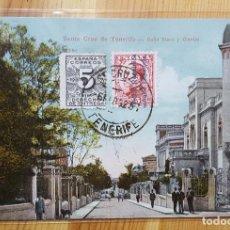 Postales: SANTA CRUZ DE TENERIFE CALLE VIERA Y CLAVIJO 1932 U.S.C.E. 20670 ENVIADA A TORINO ITLAIA. Lote 151668870