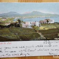 Postales: PUERTA DE LA LUZ GRAN CANARIA J. PERESTRELLO Nº 3 UNION POSTAL UNIVERSA ENVIADA A LAUNESTON TASMANIA. Lote 152065974