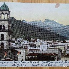 Postales: SANTA CRUZ DE TENERIFE IGLESIA Y CALLE SAN FRANCISCO Nº 4356 1906 ED. NOBREGAT´S ENGLISH BAZAR. Lote 152066070