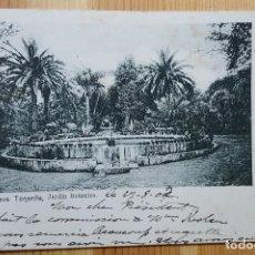 Postales: OROTAVA JARDIN BOTANICO TENERIFE 1902 ENVIADA A BELGICA. Lote 152070798