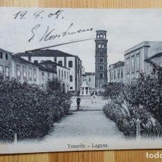 Postales: TENERIFE LA LAGUNA ED. NOBREGA´S 1908 ENVIADA A BELGICA. Lote 152072826