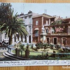 Postales: LAS PALMAS DE GRAN CANARIA PLAZA DE CAIRASCO 1907 UNION POSTAL UNIVERSAL ED. J PERESTRELLO. Lote 152392782