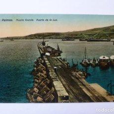 Cartes Postales: POSTAL. LAS PALMAS. MUELLE GRANDE. PUERTO DE LA LUZ. RODRIGUES BROS. Lote 152423850