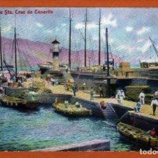 Postcards - Postal de canarias Tenerife Puerto de Sta.Cruz de Tenerife reverso sin dividir años 19??unica y rara - 153242086