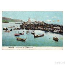 Postales: SANTA CRUZ DE TENERIFE.(ISLAS CANARIAS).- DESPEDIDA DE S.M. ALFONSO XIII.. Lote 153927718