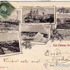 Postales: POSTAL EDITADA EN EL SIGLO XIX BAZAR ALEMÁN. Nº 23. LAS PALMAS GRAN CANARIA. VARIAS VISTAS.. Lote 154834718