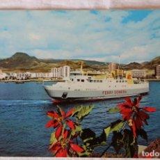 Postales: TENERIFE LOS CRISTIANOS FERRY GOMERA TEN 5049 BARCO BENCHIJIGUA. Lote 155296270