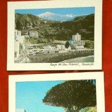Postales: TENERIFE (CANARIAS) LOTE 3 POSTALES - SAN MARCOS, LA OROTAVA, ICOD DE LOS VINOS, DRAGO. Lote 155395786