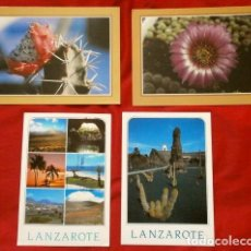Postales: LANZAROTE (CANARIAS) LOTE 4 POSTALES - . Lote 155396230