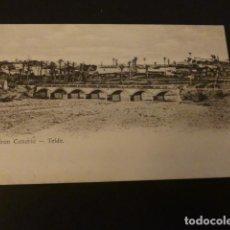 Postales: TELDE GRAN CANARIA VISTA POSTAL REVERSO SIN DIVIDIR. Lote 155462002