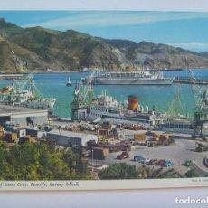 Postales: POSTAL DE SANTA CRUZ DE TENERIFE ( CANARIAS ) . BARCO , ETC . AÑOS 60 . INGLESA. Lote 155654402