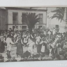 Postales: ANTIGUA POSTAL - OROTAVA (TENERIFE) FIESTA DE SAN ISIDRO - BAILES REGIONALES - FOTOGRAFÍA ANTIGUA. Lote 155732794