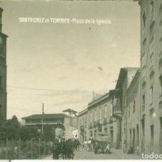 Postales: SANTA CRUZ DE TENERIFE. PLAZA DE LA IGLESIA HACIA 1920. JG. Nº 25. Lote 156306754