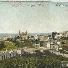 Postales: LAS PALMAS ESCRITA 1912 CIRCULADA EN BELGICA. Lote 156602406