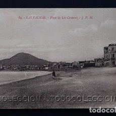 Postales: POSTAL CANARIAS LAS PALMAS PLAYA DE LAS CANTERAS . J. P. M. CA AÑO 1910 . Lote 156735858