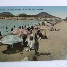 Postales: PLAYA DE LAS CANTERAS PUERTO DE LUZ LAS PALMAS. RODRIGUES BROS. Lote 158069274