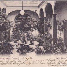 Postales: LAS PALMAS (CANARIAS) - PATIO DEL HOTEL CATALAN. Lote 159716318