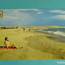 Postales: PLAYA DE MASPALOMAS, GRAN CANARIA. Lote 160077686