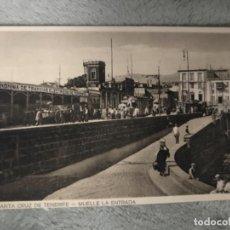 Postales: ANTIGUA POSTAL SANTA CRUZ TENERIFE MUELLE LA ENTRADA . Lote 160215270