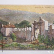 Postales: ANTIGUA POSTAL EN COLOR - PUBLICIDAD GRAN LICOR CARMELITANO, LAS PALMAS. PORTERÍA DEL CONVENTO VIEJO. Lote 161246466