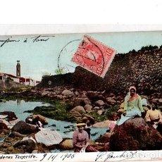 Postales: TARJETA POSTAL DE LAVANDERAS, TENERIFE. . Lote 162677162