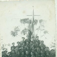 Postales: TENERIFE GUERRA CIVIL. GRUPO DE FALANGISTAS. HACIA 1938. FOTO BAEZA. MUY RARA.. Lote 162937094