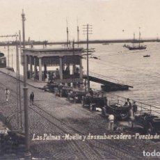 Postales: PUERTO DE LA LUZ (CANARIAS) - MUELLE Y DESEMBARCADERO -. Lote 164000474