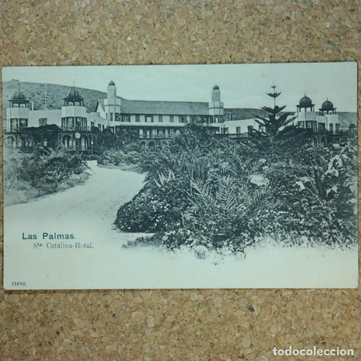 POSTAL LAS PALMAS, HOTEL STA. CATALINA, N° 13890, AÑO 1903. (ESCRITA POR DETRAS) (Postales - España - Canarias Antigua (hasta 1939))