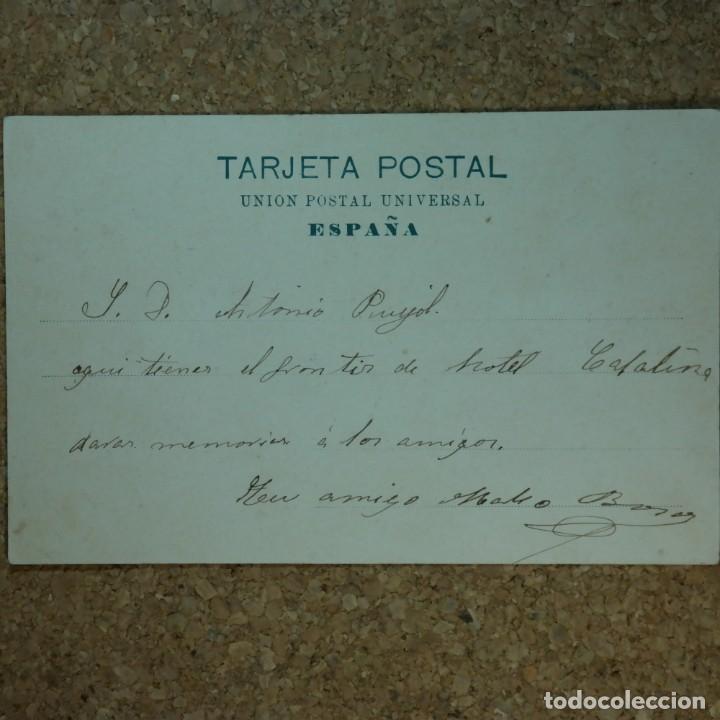 Postales: Postal Las Palmas, Hotel Sta. Catalina, N° 13890, año 1903. (escrita por detras) - Foto 4 - 166579122