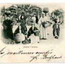 Postales: LAS PALMAS DE GRAN CANARIA MUJERES CANARIAS ED. RUDOLF SCHIMROM Nº 2. CIRCULADA 1898. Lote 168852004