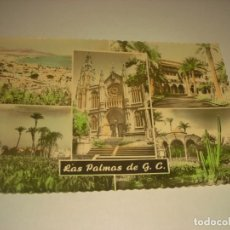 Postales: LAS PALMAS DE GRAN CANARIA, 5 PAISAJES, CIRCULADA . ED. LUJO. Lote 170938120