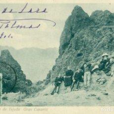 Postales: GRAN CANARIA LAS PALMAS LA CUMBRE DE TEJEDA CIRCULADA EN 1904. MUY RARA.. Lote 171537098