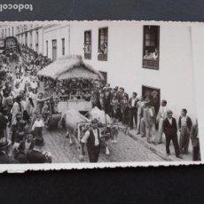 Postales: LA OROTAVA TENERIFE ROMERIA DE SAN ISIDRO 1943 A. BENITEZ FOTOGRAFO POSTAL FOTOGRAFICA. Lote 171750963