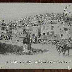 Postales: POSTAL DE LAS PALMAS, CIUDAD ALTA. CAMPAÑA BUQUE ESCUELA DUGUAY TROUIN 1905. PHOT. J.GEISER. CIRCULA. Lote 173189165