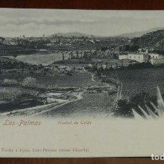 Postales: ANTIGUA POSTAL DE LAS PALMAS - GRAN CANARIA - CIUDAD DE TELDE . PAPELERIA VDA DE VERDU E HIJAS - SIN. Lote 173192697