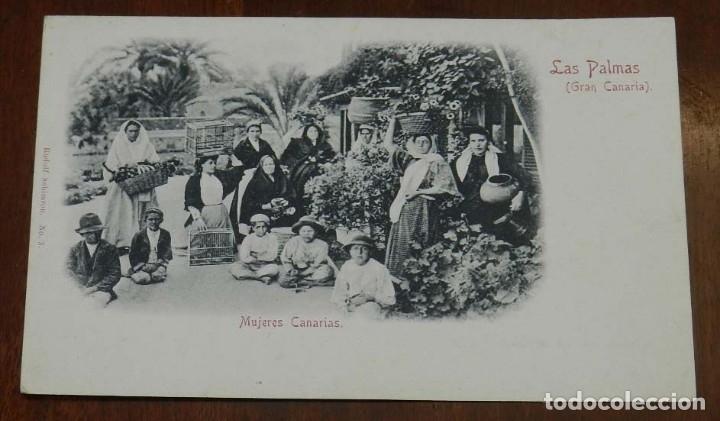 POSTAL LAS PALMAS, MUJERES CANARIAS, Nº 3. ED. RUDOLF SCHIMRON, NO CIRCULADA, SIN DIVIDIR. (Postales - España - Canarias Antigua (hasta 1939))